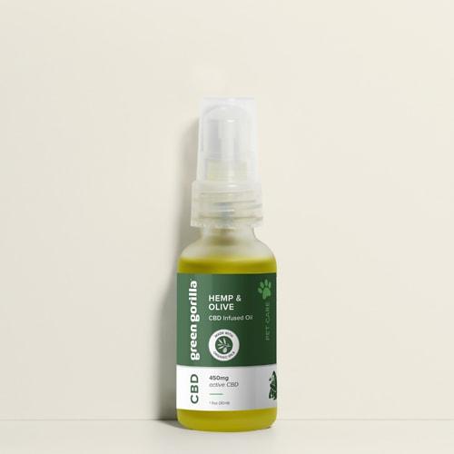 Pure CBD Oil for Dogs & Pets - 450mg | Green Gorilla