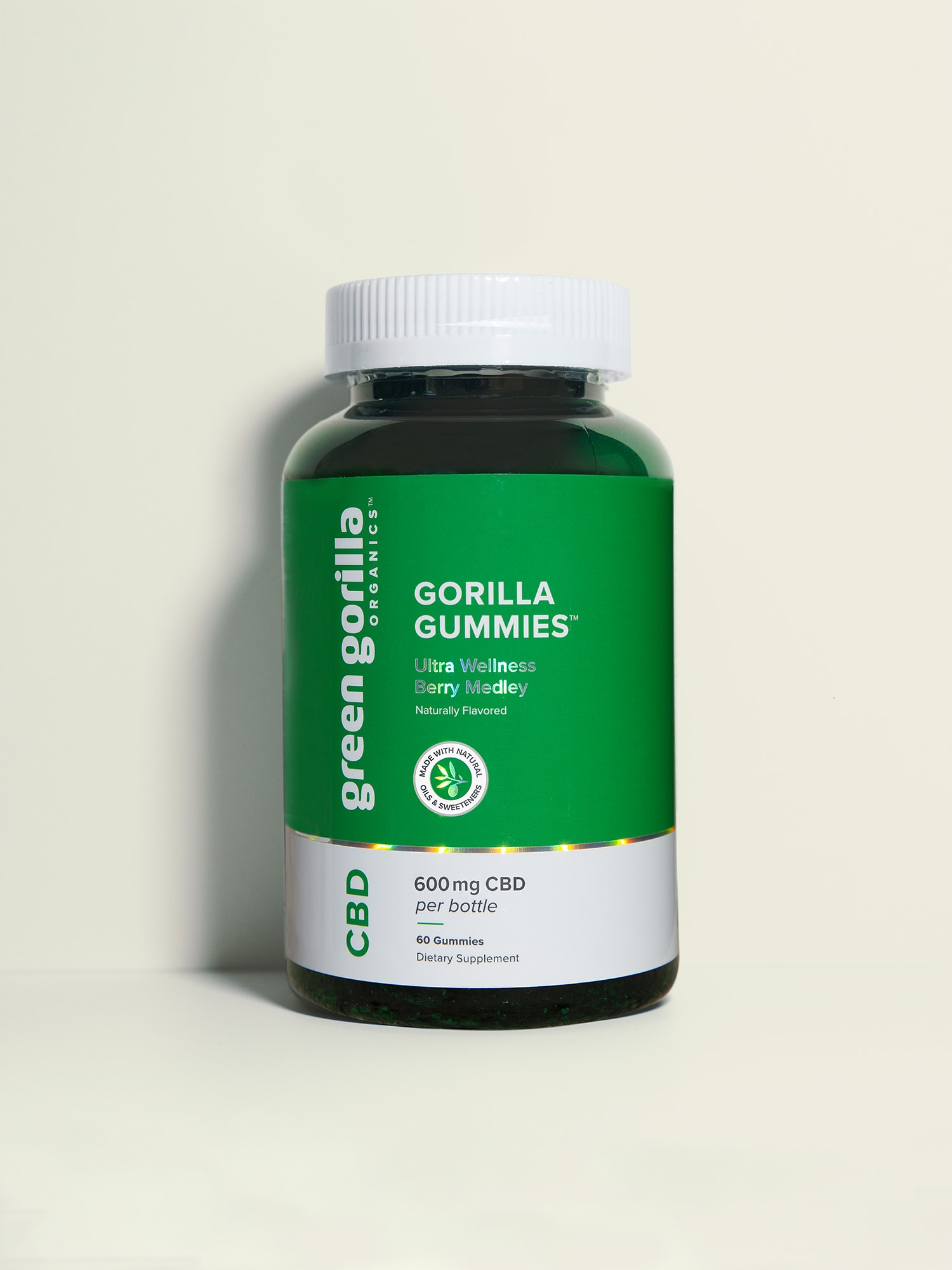 Pure CBD Gummies Made from Hemp Extract - 300mg | Green Gorilla