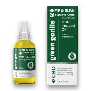 Pure CBD Oil for Horses 7500mg Hemp Infused - Green Gorilla