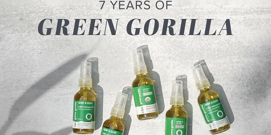 Green Gorilla Announces 7-year Anniversary as the Leader in Farm-to-Shelf USDA Certified Organic Hemp-CBD Products