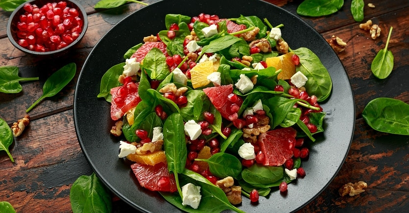 Spinach and Blood Orange Berry with CBD Raspberry Vinaigrette