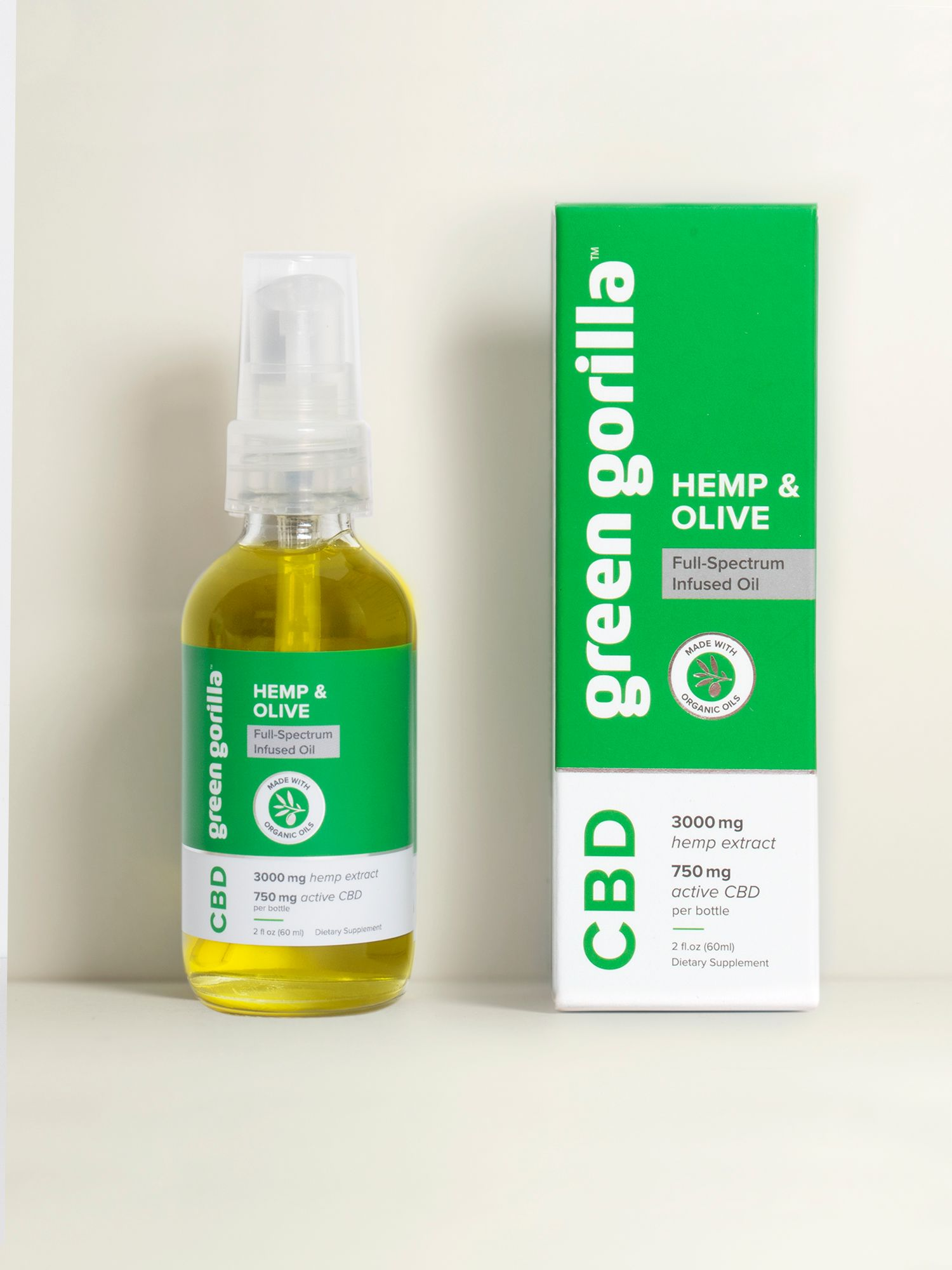 Hemp & Olive Botanical CBD Balm - 750mg | Green Gorilla