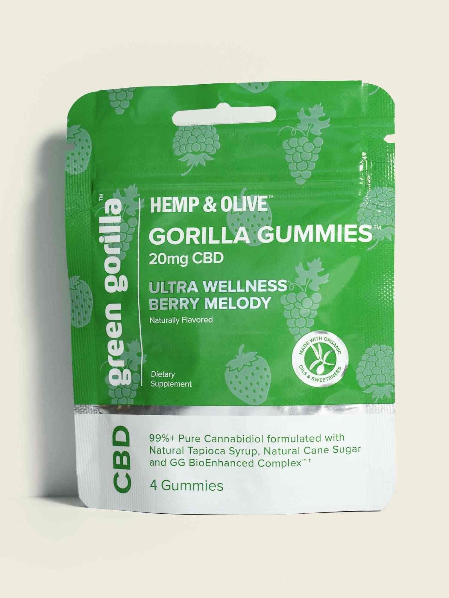 Organic CBD Gorilla Gummies 20mg