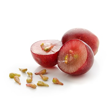 Sliced grapes
