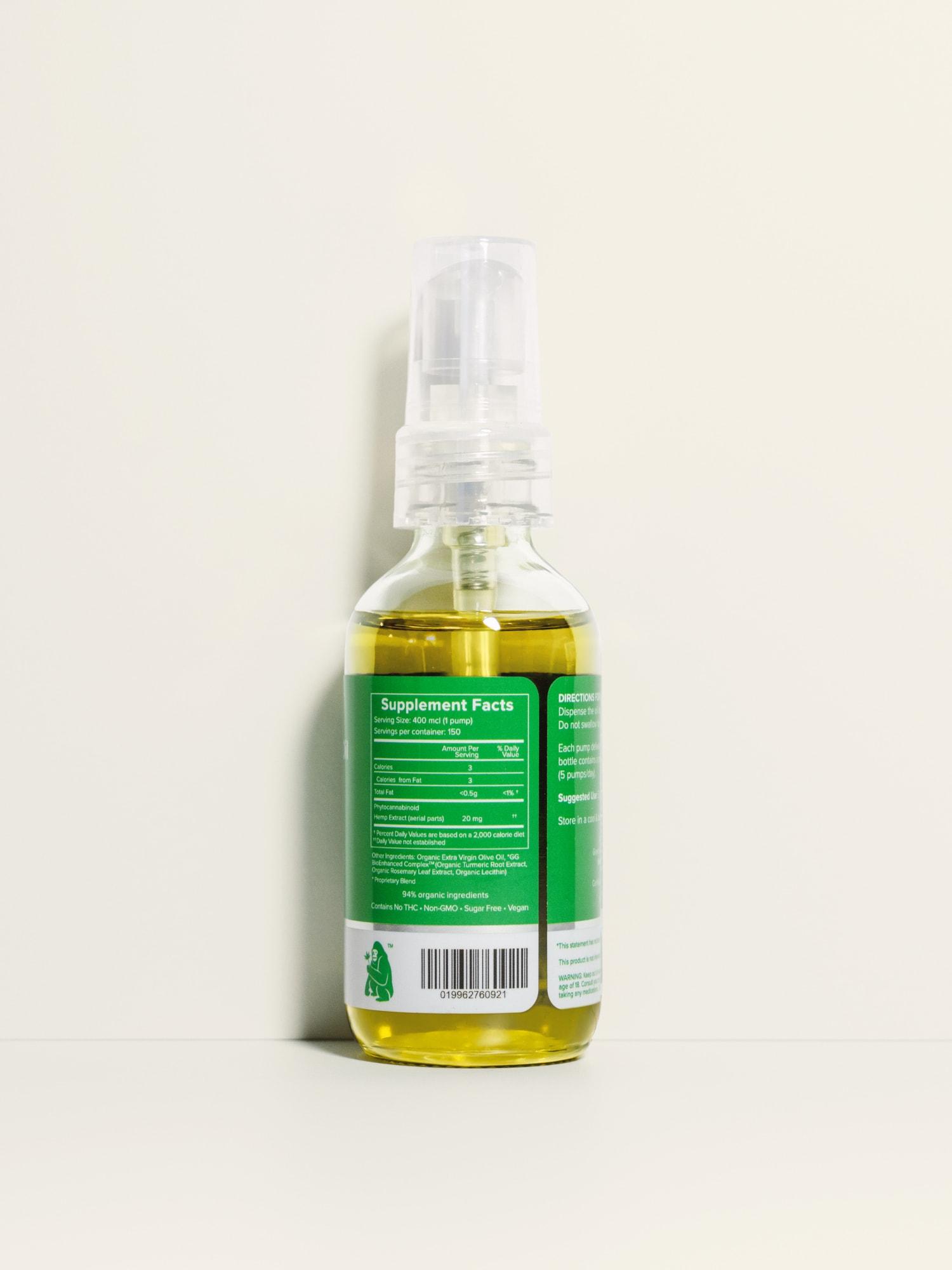 Buy Green Gorilla Organic Pure CBD Oil - 3000 mg