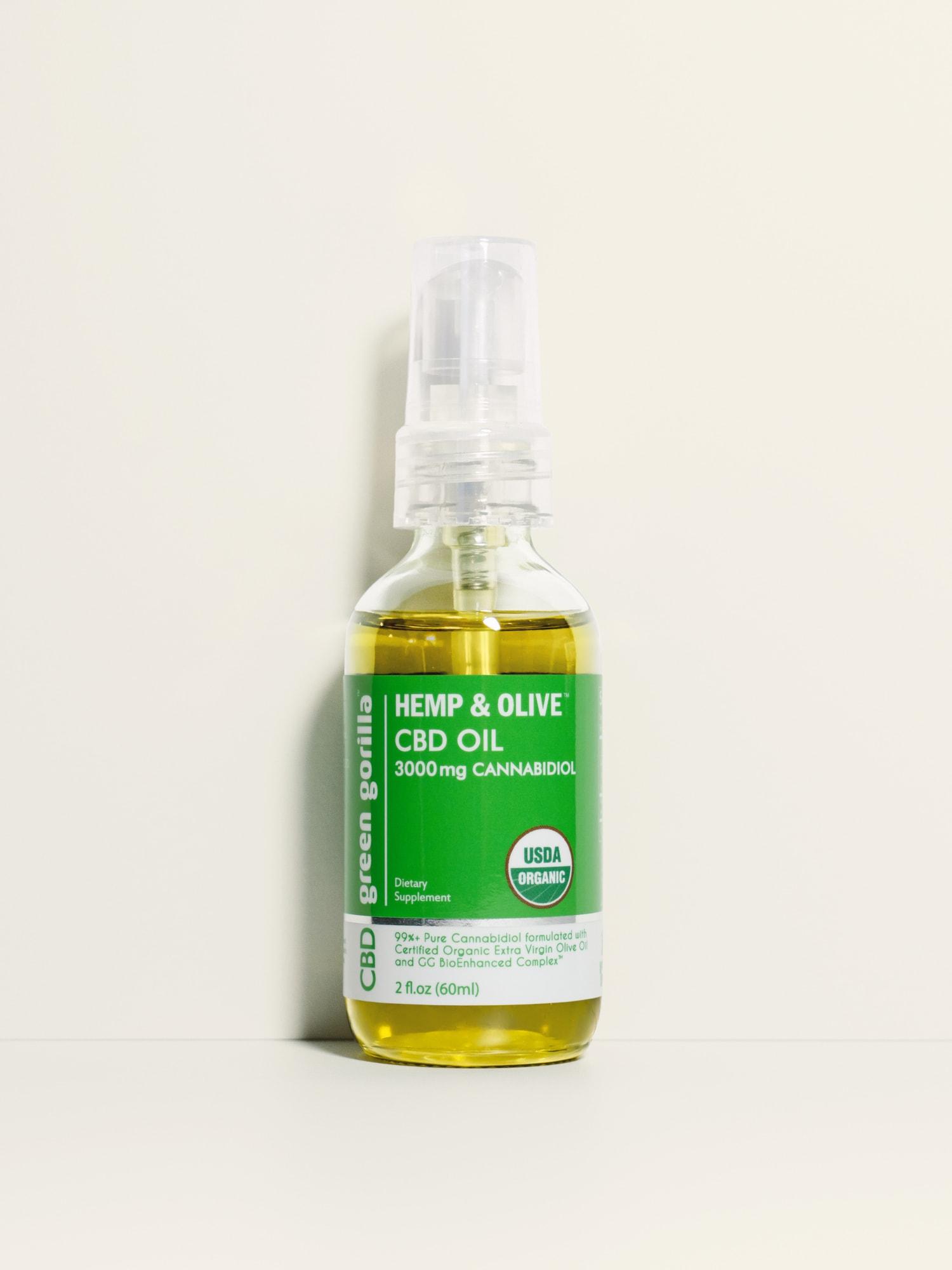 USDA Certified Organic Pure CBD Oil - 3000 mg - Green Gorilla