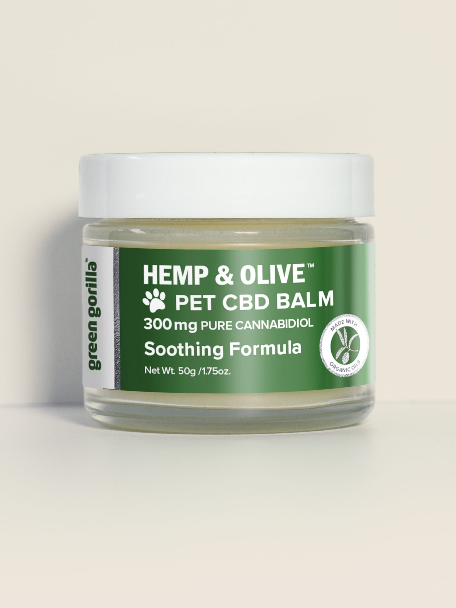 Organic CBD Balm for Dogs & Pets - 300mg | Green Gorilla