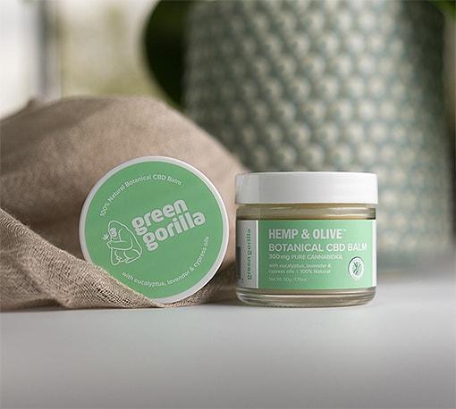 Organic hemp extract topicals balms and creams