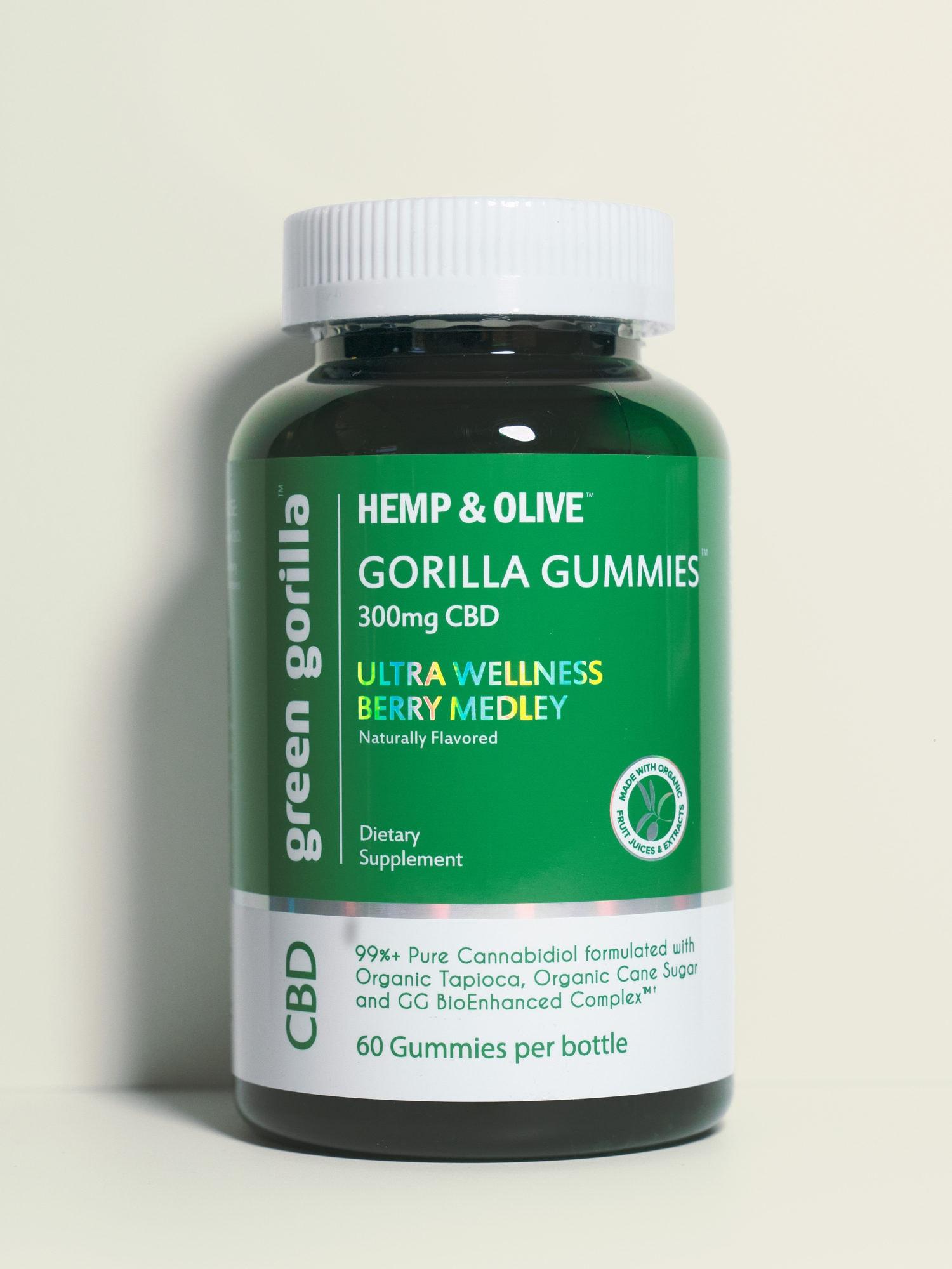 Pure CBD Gummies Made from Hemp Extract - 300mg   Green Gorilla