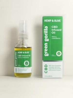 USDA Certified Organic Pure CBD Oil from Hemp Extract - 1500mg | Green Gorilla